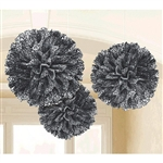 Black and White Scroll Fluffy Decorations