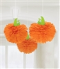 Pumpkins Fluffy Paper Decorations