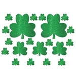 Glitter Shamrock Cutouts Assortment