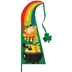 St. Patrick's Day Yard Stake Flag Banner