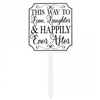 This Way To Happily Ever After Lawn Sign
