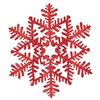 Red Glitter Snowflake Decoration