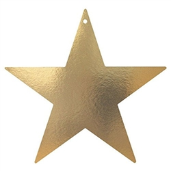 12 Inch Gold Foil Star
