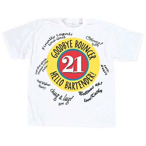 21st Birthday Autograph T Shirt