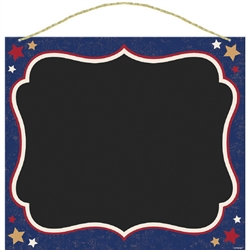 Americana Chalkboard Sign with Robe Hangers