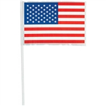 4 Inch x 6 Inch Plastic American Flags Value Pack