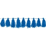 Bright Royal Blue Paper Tassel Garland