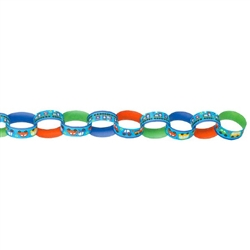 All Aboard Boy Printed Paper Chain Link Garland