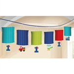 All Aboard Boy Paper Lantern Garland