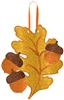 Fall Leaf and Acorns Hanging Decoration