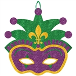 Jester Mask Glitter Value Sign