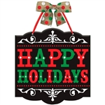 Happy Holidays Hanging Sign