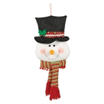 Snowman Head Door Hanger - Plush