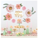 Mint To Be Floral Backdrop Decorating Kit