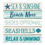 SEA, SAND, SUN STANDING BEACH SIGN