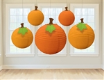Fall Pumpkins Paper Lanterns 5 pack