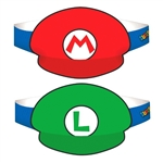Super Mario Brothers Paper Hats