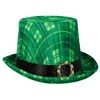 St. Patrick's Day Plaid Top Hat