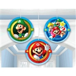 Super Mario Brothers Honeycomb Decorations