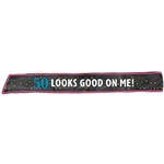 50th Birthday Fabric Sash