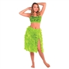 Green Floral Hula Skirt