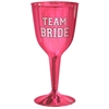Team Bride Plastic Wine Glasses