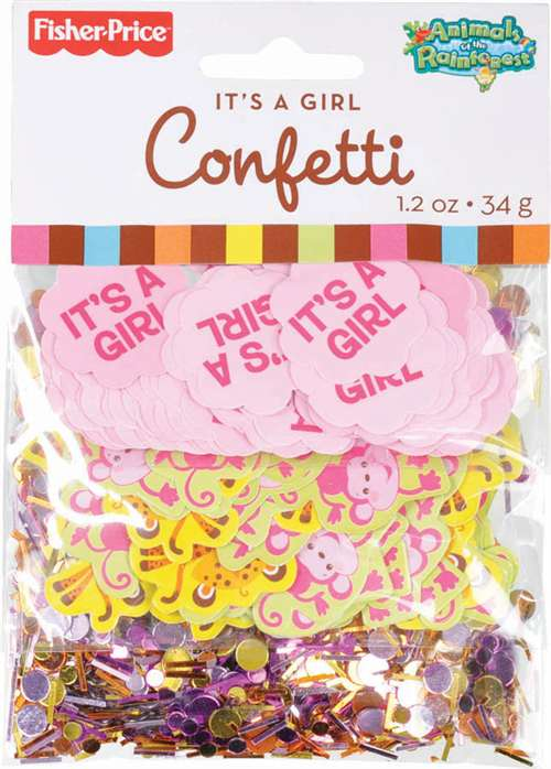 Its a Girl Confetti   Confetti  1 pkg
