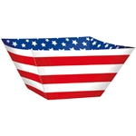 Red, White and Blue Paper Square Bowls