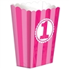 1st Birthday Popcorn Shaped Favor Box Small
