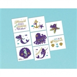 Mermaid Wishes Temporary Tattoos Favors