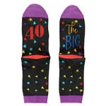 The Big 40 - 40th Birthday Socks
