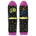 The Big 50 - 50th Birthday Socks