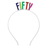 Fifty - 50th Birthday Metal Headband