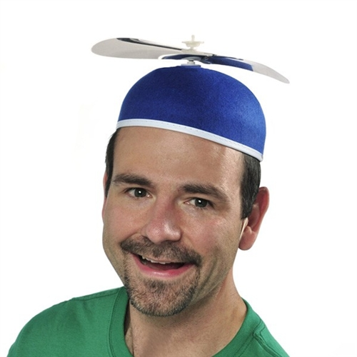 Blue Beanie Propeller Hat - Adult