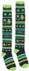 St Pats Lucky Stripe Knee Highs
