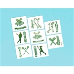 Lacrosse Crosse Check Temporary Tattoos