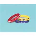 MICKEY ON THE  GO RUBBER BRACELETS