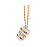 FIESTA BEAD CHAIN WITH SHOT GLASS