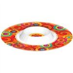 Fiesta Melamine Chip and Dip Bowl
