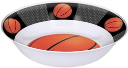 Basketball Melamine Bowl
