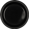 BLACK DESSERT PLASTIC PLATES 7in-20 CT