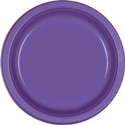 NEW PURPLE 9in PLASTIC PLATES