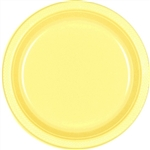 Light Yellow Luncheon Plastic Plates 9 inch-20 Ct