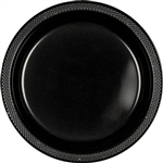 BLACK DINNER PLASTIC PLATES 10.25in.-20 CT