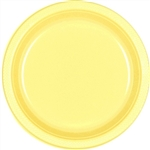 Light Yellow Dinner Plastic Plates 10.25 inch-20 Ct
