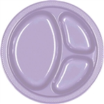 LAVENDER DIVIDED PLASTIC PLATES 10.25in.-20 CT