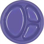 NEW PURPLE 10.25in. DIVIDED PLATES