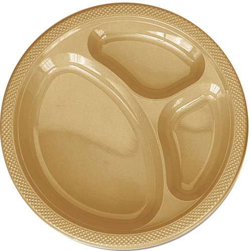 GOLD DIVIDED PLASTIC PLATES 10.25in.-20 CT  sc 1 st  Bartz\u0027s & Gold Divided Plastic Plates 10.25in.-20 Ct - Bartz\u0027s Party Stores