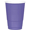 NEW PURPLE 16OZ PLASTIC CUPS