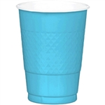 CARRIBEAN BLUE 16 OZ PLASTIC CUPS